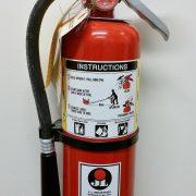 colocación extintor